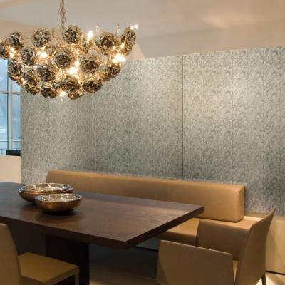 Panou decorativ  17036 DECO FLEUR Floral argint/maro2