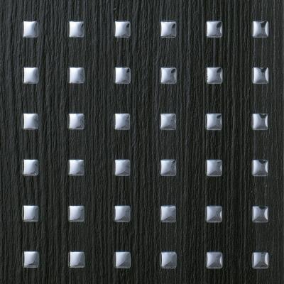 Panou decorativ 12549 3D QUAD aspect  metalic din lemn 3D Optica Negru de argint1