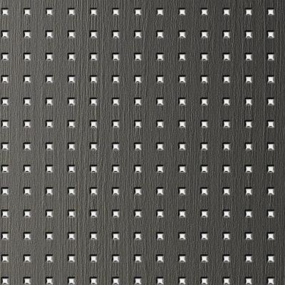 Panou de perete 12557 3D QUAD Pătrat din lemn 3D optic gri argint0
