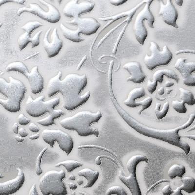 Panou decorativ 13414 FLORAL Baroque din piele 3D optic - argint alb1