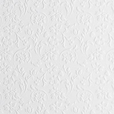 Panou decorativ 13473 FLORAL Baroque din piele 3D culoare oțel alb0
