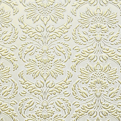 Panou decorativ 14793 IMPERIAL Baroc Damasc din piele 3D Optic Aur alb0