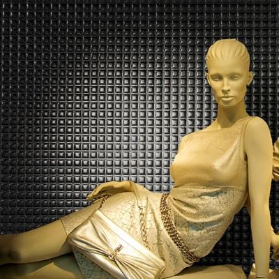 Panou decorativ 15032 Quadro piele Quilt 3D optica Negru2