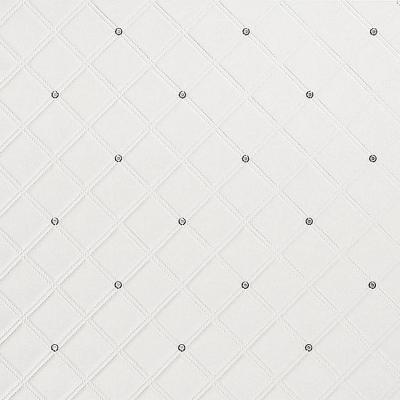 Panou decorativ 15044  CRISTAL din piele cu cristale de sticlă optică albă0