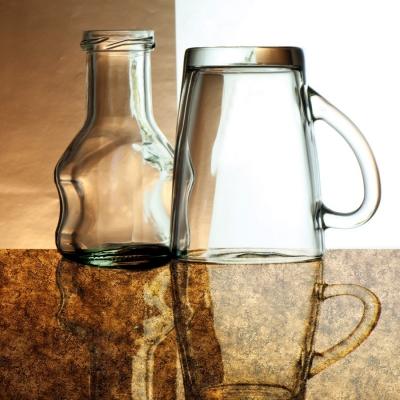 Panou decorativ 17161 VINTAGEaspect sticlă  de culoare brună2