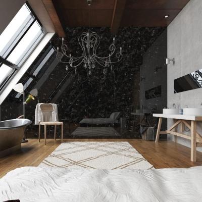 Panou decorativ 19341 MARBLE BLACK- marmura neagra3