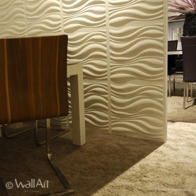 PANOURI DECORATIVE 3D WAVES, WALLART, 12 PLACI 50X50CM0