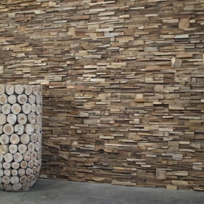 Panouri decorative 3D Teak Root, 8 placi 20x73cm1