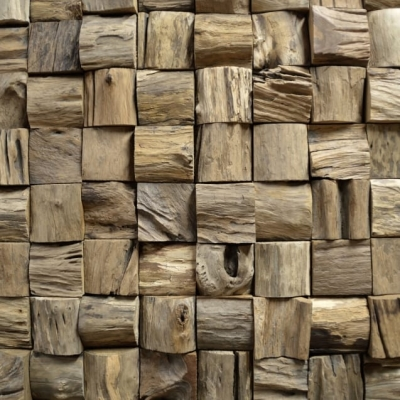 Panouri decorative 3D Teak Qubow, 10 placi 30x30cm0