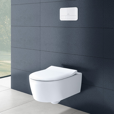 Set vas WC suspendat  Villeroy & Boch, Avento Soul , cu capac soft close, quick release,Direct Flush, alb 4656HR012