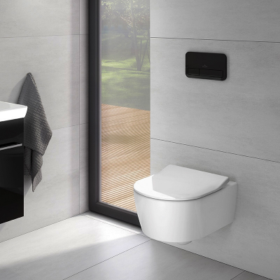 Set vas WC suspendat  Villeroy & Boch, Avento Soul , cu capac soft close, quick release,Direct Flush, alb 4656HR013