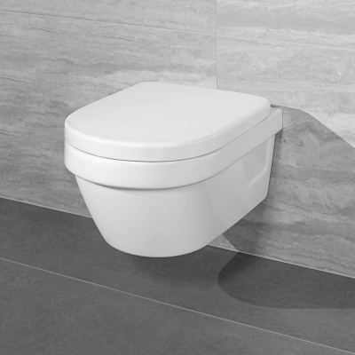 Set vas suspendat WC Villeroy & Boch, Arhitectura, , cu capac , soft close, quick release, alb 4687HR010