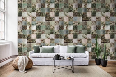 Tapet R15071- Birds of Paradise, Tiles1