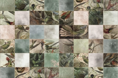 Tapet R15071- Birds of Paradise, Tiles0