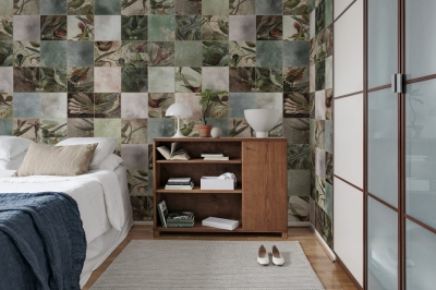 Tapet R15071- Birds of Paradise, Tiles2