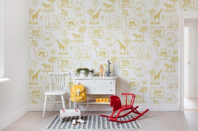 Tapet R15272- Animal Party Yellow [1]