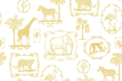 Tapet R15272- Animal Party Yellow0