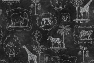 Tapet R15273- Animal Party Blackboard [0]