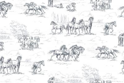 Tapet R15591-Horse Herd0
