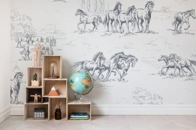 Tapet R15591-Horse Herd2