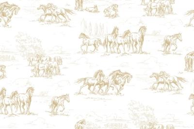 Tapet R15592-Horse Herd0