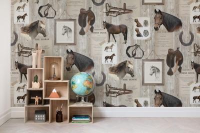 Tapet R15551-Horse Mania1