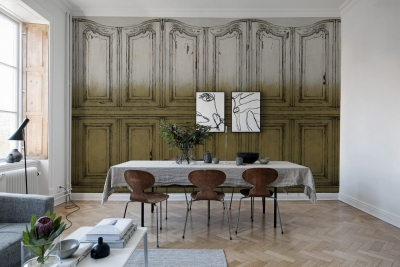 Tapet R15602- Parisian Panels -Dip Dye Yellow [1]