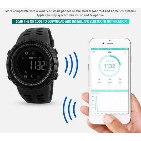Ceas Smartwatch Skmei, Pedometru, Calorii, Alarma, Distanta,Sport, Bluetooth, Digital 3