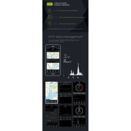Bratara fitness Twinkler, inteligenta, Agenda telefonica, Anti-lost, Pedometru, Alarma, Cronometru, Monitorizare somn, Puls, GPS, Electrocardiograma 3