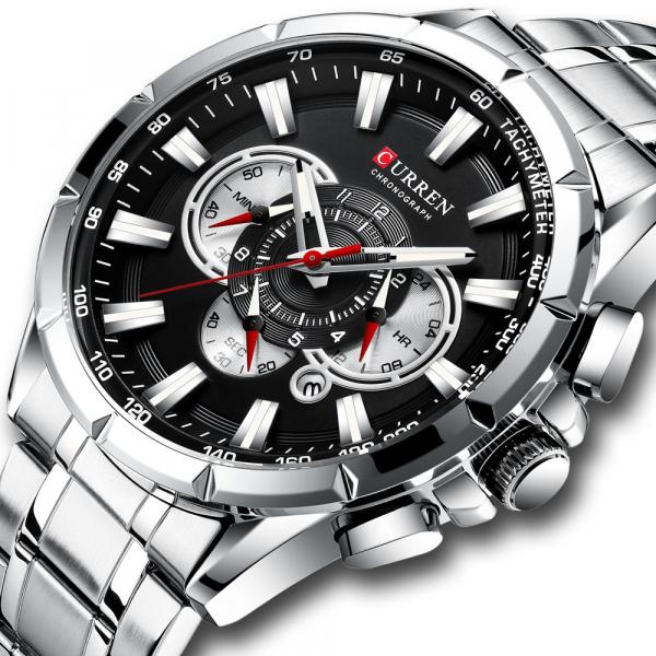 Ceas Curren Sport Otel inoxidabil Cronograf Luxury Business Fashion 0