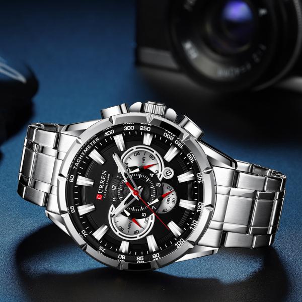 Ceas Curren Sport Otel inoxidabil Cronograf Luxury Business Fashion 4