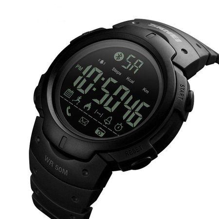Ceas Smartwatch barbatesc, Skmei, Bluetooth, Pedometru, Afisaj Digital, Calorii, Sport, notificari 0