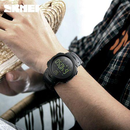 Ceas Smartwatch barbatesc, Skmei, Bluetooth, Pedometru, Afisaj Digital, Calorii, Sport, notificari 4