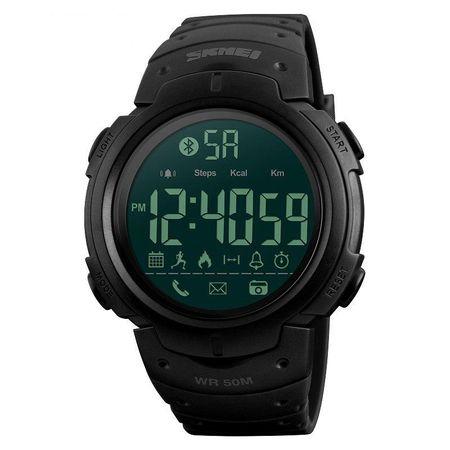 Ceas Smartwatch barbatesc, Skmei, Bluetooth, Pedometru, Afisaj Digital, Calorii, Sport, notificari 2