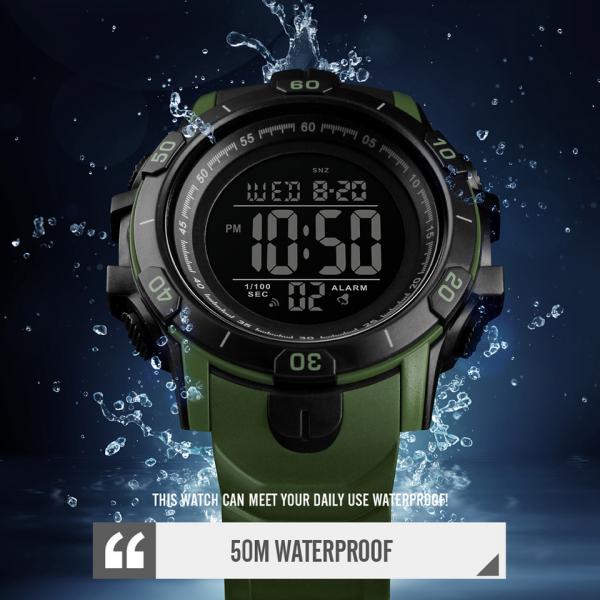Ceas Sport Militar Digital Barbati Cronograf Alarma Cronometru [2]