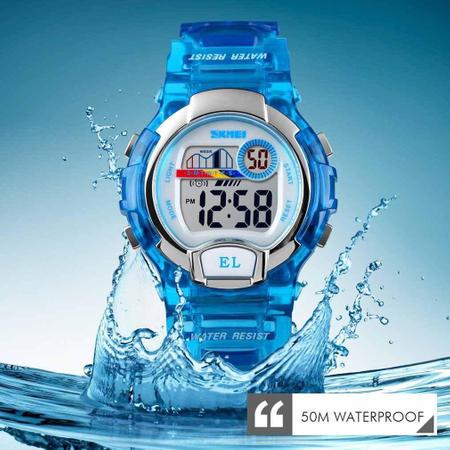 Ceas baieti digital. Sport, Lumina de fundal, Rezistent la apa si socuri 3