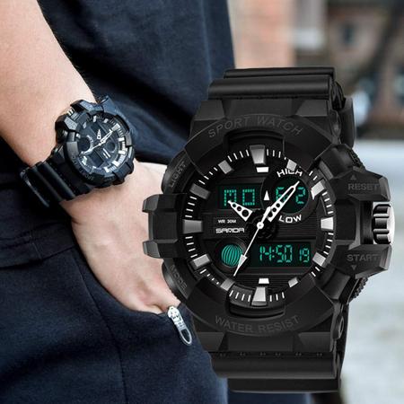 Ceas barbatesc, Shock resistant, Militar, Sport, Digital, Dual-time [3]