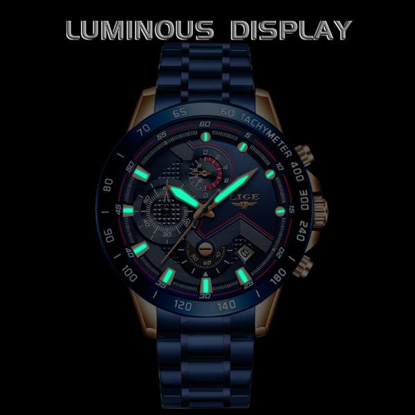 Ceas barbatesc Business Elegant Cronograf Elegant Otel Inoxidabil Quartz 4