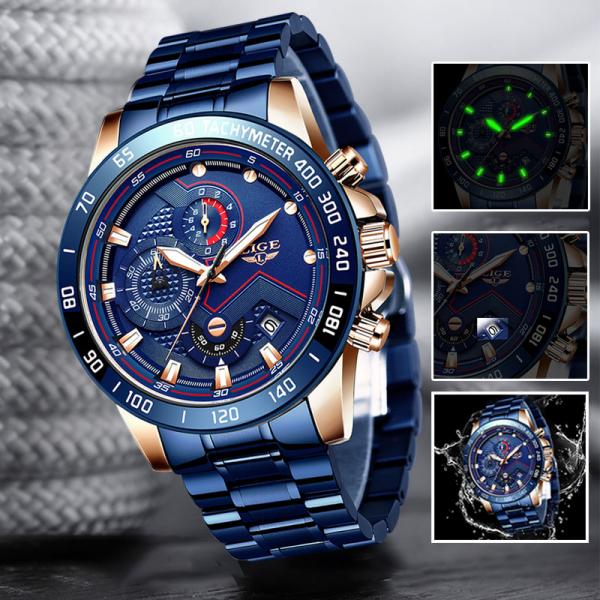 Ceas barbatesc Business Elegant Cronograf Elegant Otel Inoxidabil Quartz 7