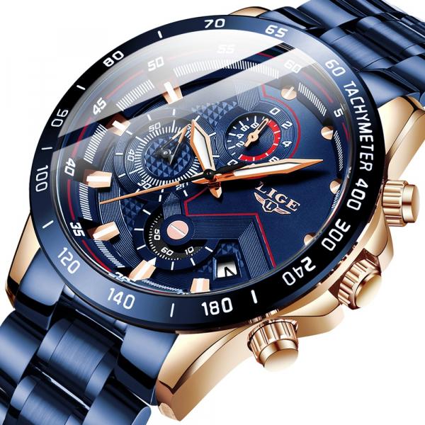 Ceas barbatesc Business Elegant Cronograf Elegant Otel Inoxidabil Quartz 0