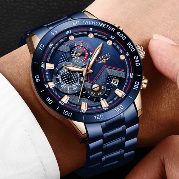 Ceas barbatesc Business Elegant Cronograf Elegant Otel Inoxidabil Quartz 9