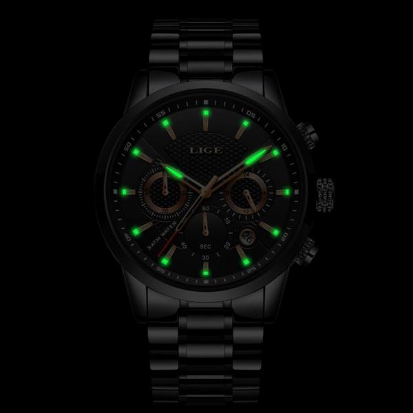 Ceas barbatesc Business Elegant Cronograf Elegant Otel Inoxidabil Quartz 8