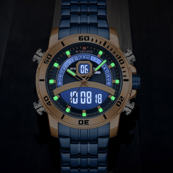 Ceas barbatesc Casual Dual Time Luxury Naviforce Cronograf Quartz Digital barbatesc Casual Dual Time Luxury Naviforce Cronograf Quartz Digital 4