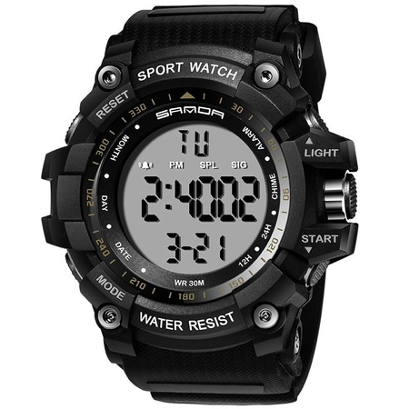 Ceas barbatesc Sanda, Sport, Militar, Army, Fashion, LED, Outdoor, Digital, Rezistent la apa, Cronometru, Alarma, Calendar 0