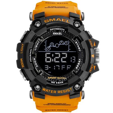 Ceas barbatesc Smael, Shock resistant, Militar, Sport, Digital, Army, Dual time, Cronograf 0