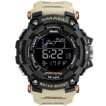 Ceas barbatesc Smael, Shock resistant, Militar, Sport, Army, Digital, Dual time, Cronograf 0