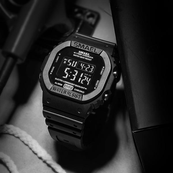 Ceas barbatesc Smael Cronograf Digital Calendar Alarma Sport 1