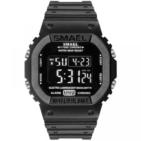 Ceas barbatesc Smael Cronograf Digital Calendar Alarma Sport 0