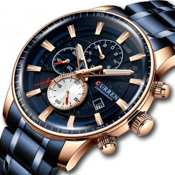 Ceas barbatesc original, Top Brand, Elegant, Fashion, Quartz, Otel inoxidabil 0