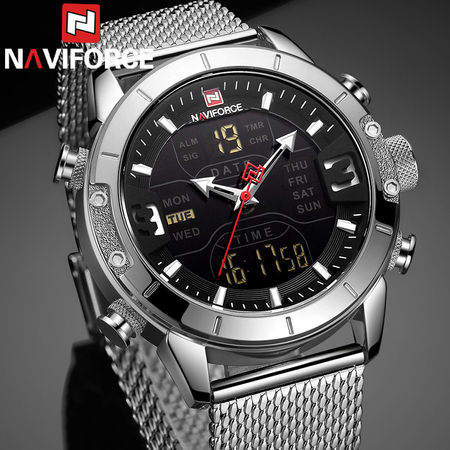 Ceas barbati, NaviForce, Business, Fashion, Digital,Analog, Mecanism Quartz Seiko Japonez | ceasuri-shop.ro 1